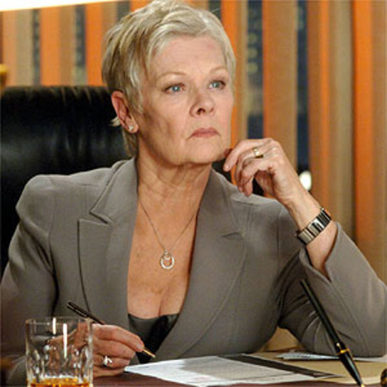 Dame Judi wearing her donation as character M in the James Bond film Casino Royale