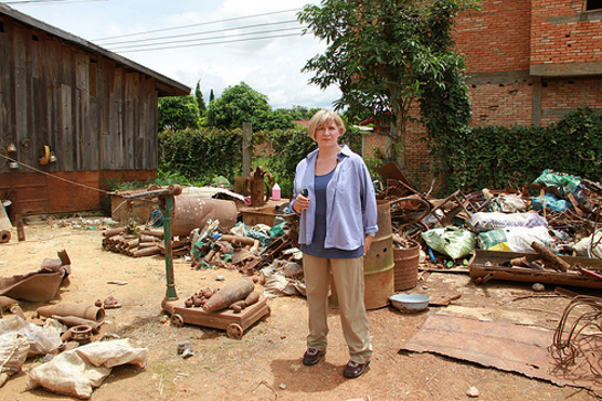 Victoria Wood visits Laos with MAG