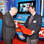 Warren Buffett Signs Ice Cream Spoon For Charity
