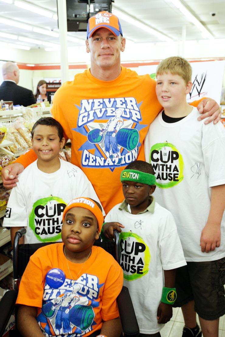 John Cena and Make-A-Wish kids