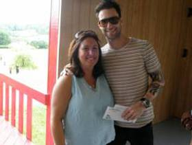 rock CAN roll Founder, Aimée Holtzman with Maroon 5's Adam Levine