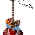 Damien Hirst Paints Guitar For Charity