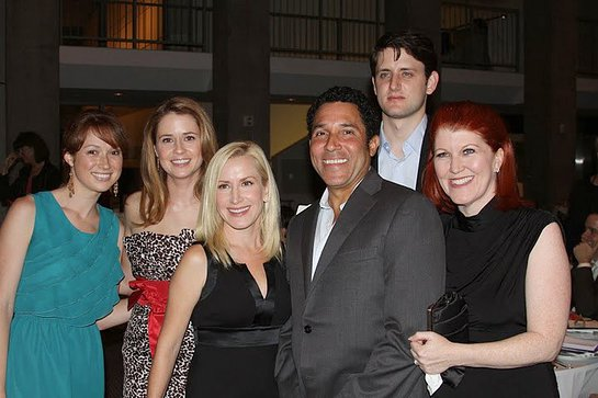 """The Office"" cast members Ellie Kemper, Jenna Fischer, Angela Kinsey, Oscar Nunez, Zach Woods and Kate Flannery at Kitten Rescue's 3rd Annual Fur Ball at the Skirball, Saturday, September 11, 2010 in Los Angeles."