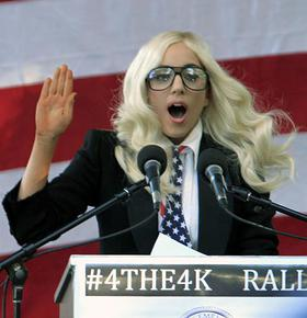 Lady Gaga, DADT Rally