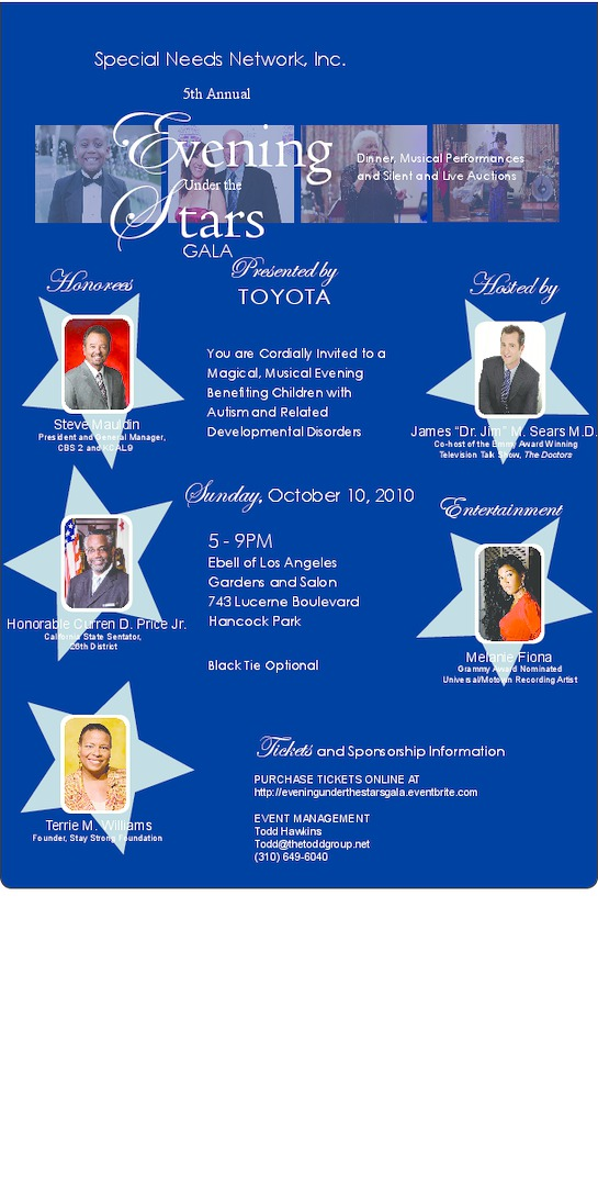 EVENING UNDER THE STARS GALA SUPPORTING AUTISM ON OCTOBER 10TH‏
