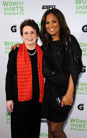 Billy Jean King and Laila Ali