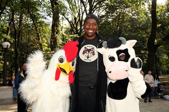 John Salley at Farm Sanctuary Walk for Farm Animals