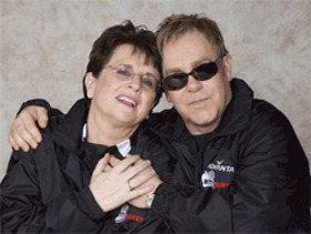 Billie Jean King and Elton John