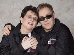 Billie Jean King and Elton John