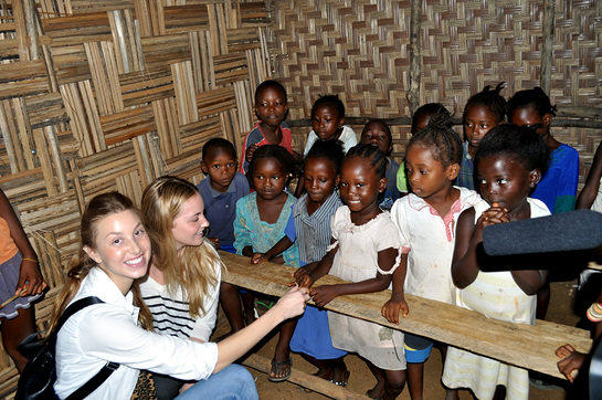 Whitney Port At a local village school