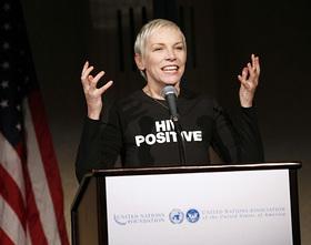 Annie Lennox Speaks at Global Leadership Awards