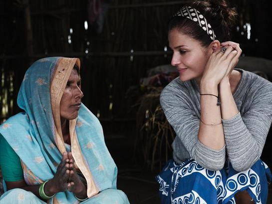 Helena Christensen in Nepal