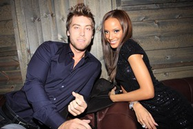 Lance Bass and Selita Ebanks