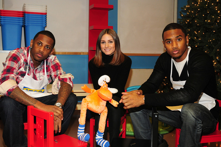 Olivia Palermo, Trey Songz, Sean Kingston and Fabolous assemble IKEA furniture with New Yorkers For Children at the ACS Children's Center in New York City.