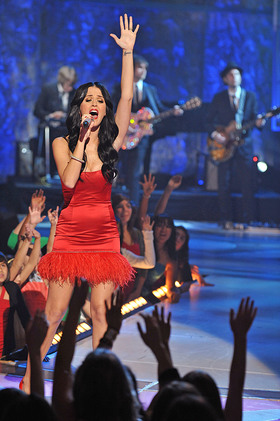 Katy Perry performs at adoption special