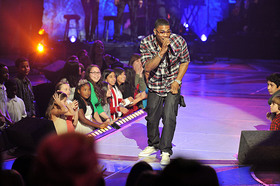Nelly performs at adoption special