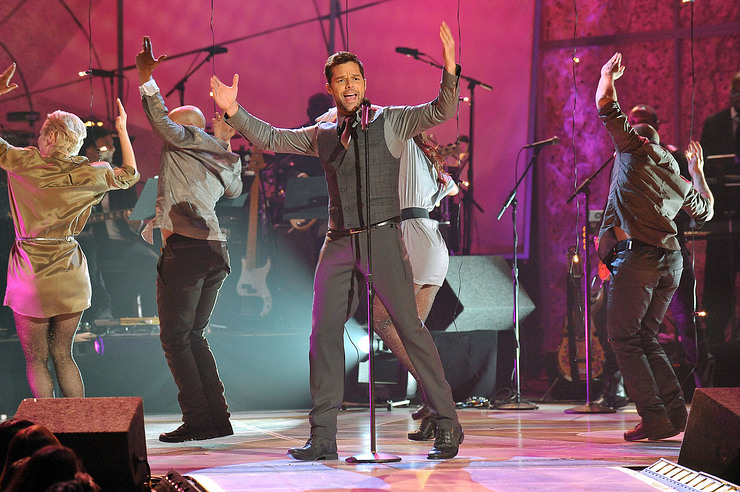 Ricky Martin performs at adoption special