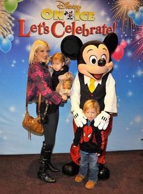 Tori Spelling attends Starlight Children's Foundation and Disney On Ice festivities