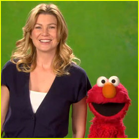 Ellen Pompeo and Elmo