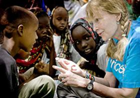 Mia Farrow and UNICEF
