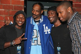 dwin Hodge, Snoop Dogg, Aldis Hodge & guest