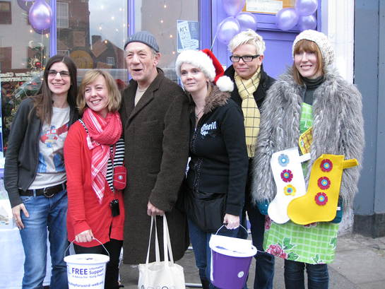 Ian McKellen and friends at Step Forward Xmas Fayre