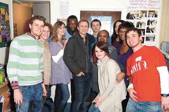 Daniel Craig at Barnardo's