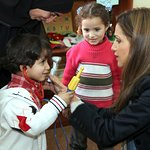 Jordan's Queen Rania Visits Save the Children Early Childhood Development Programs