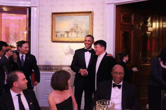 Jackie Chan meets President Obama