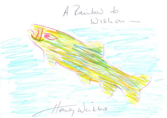Henry Winkler Charity Doodle