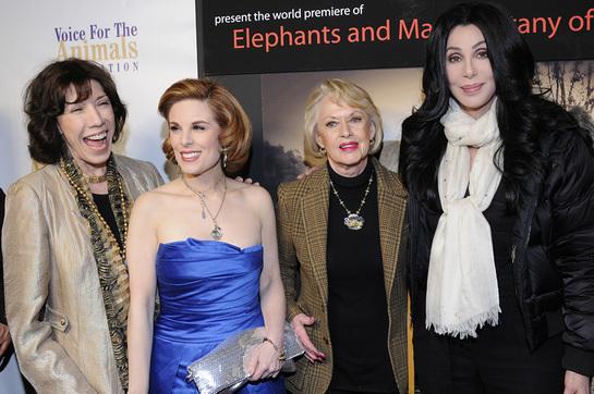 Lily Tomlin, Tippi Hendren, Cher
