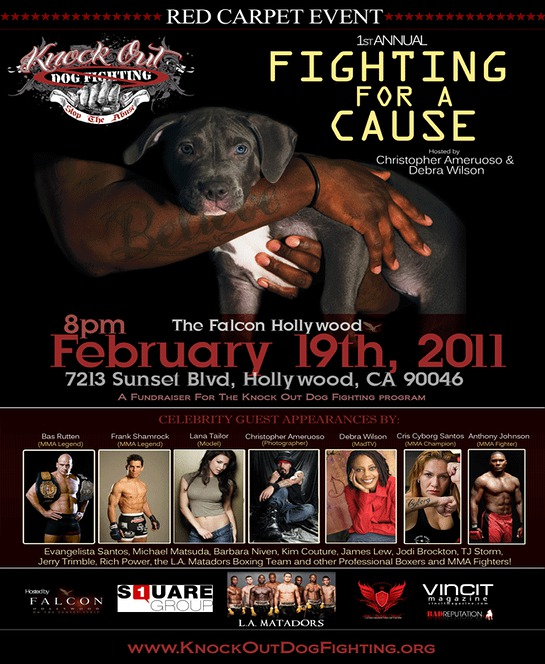 Celebrities knock out dog fighting