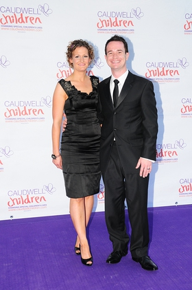 Alex Winters arrives at the Caudwell Children Butterfly Ball 2010 with wife Joanne.