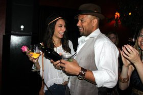 Actor Chris Williams and a guest enjoy Lucid Absinthe