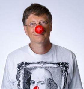 Bill Gates Red Nose Day