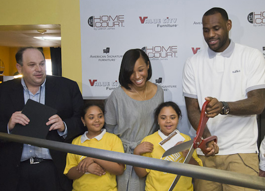 LeBron James Ribbon Cutting