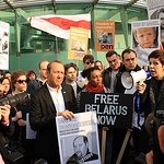 Jude Law And Kevin Spacey Protest For Belarus