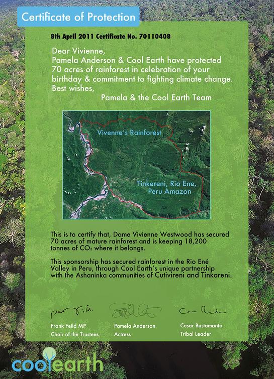Certificate between Pamela and Vivienne