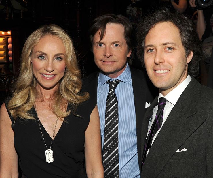 Tracy Pollan, Michael J. Fox, and David Lauren