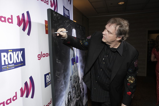 Meatloaf signing ROKK photo