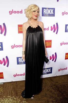 Tori Spelling at the GLAAD awards