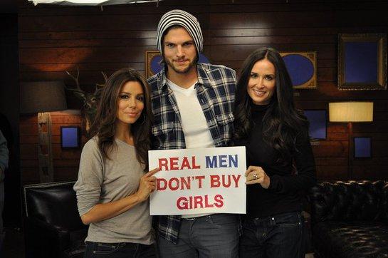 Eva Longoria, Ashton Kutcher, Demi Moore Real Men