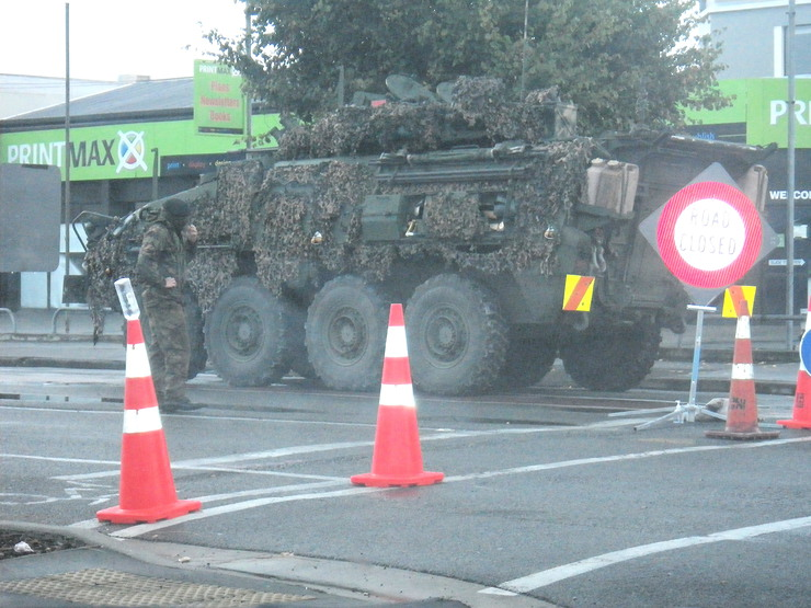 Army Tanks in Christchurch