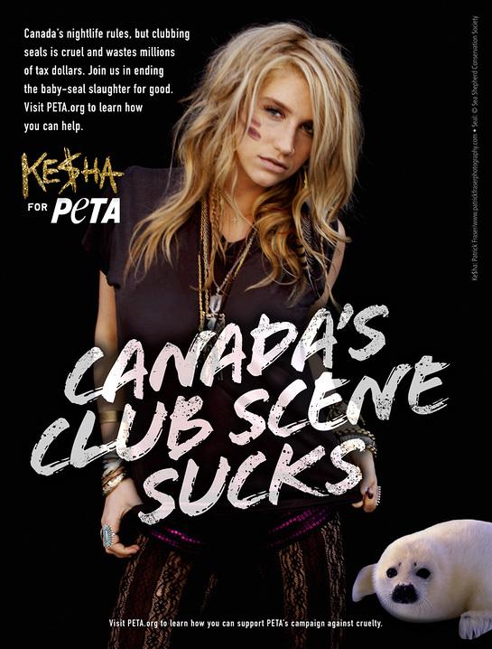Ke$ha PETA ad