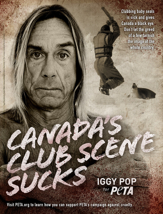 Iggy Pop PETA ad