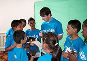 Leo Messi meets children from vulnerable communities in Costa Rica