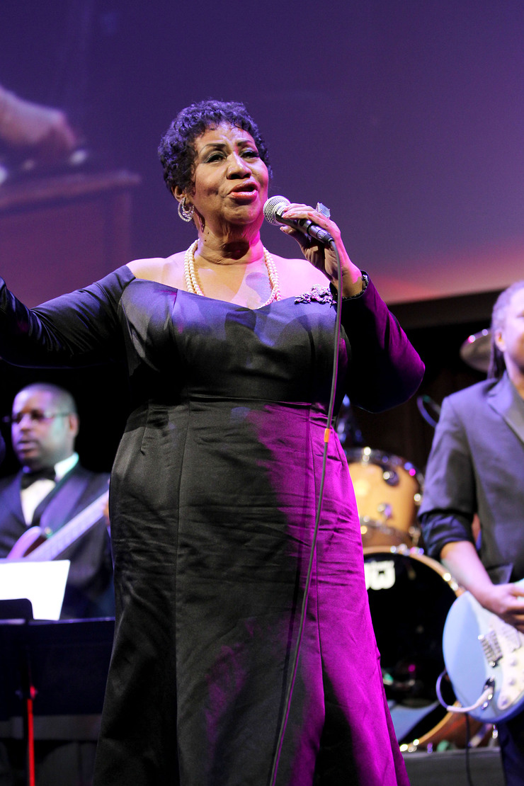 Aretha Franklin Performs at Event To Prevent