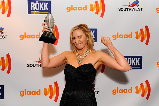Kim Cattrall at GLAAD Media Awards