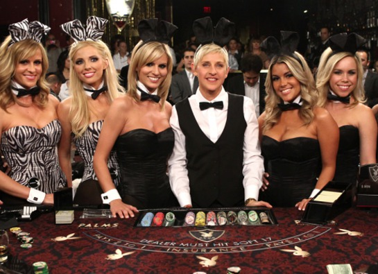 Photo: Ellen DeGeneres Deals Blackjack for Charity