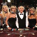 Ellen DeGeneres Deals Blackjack With Playboy Bunnies For Charity